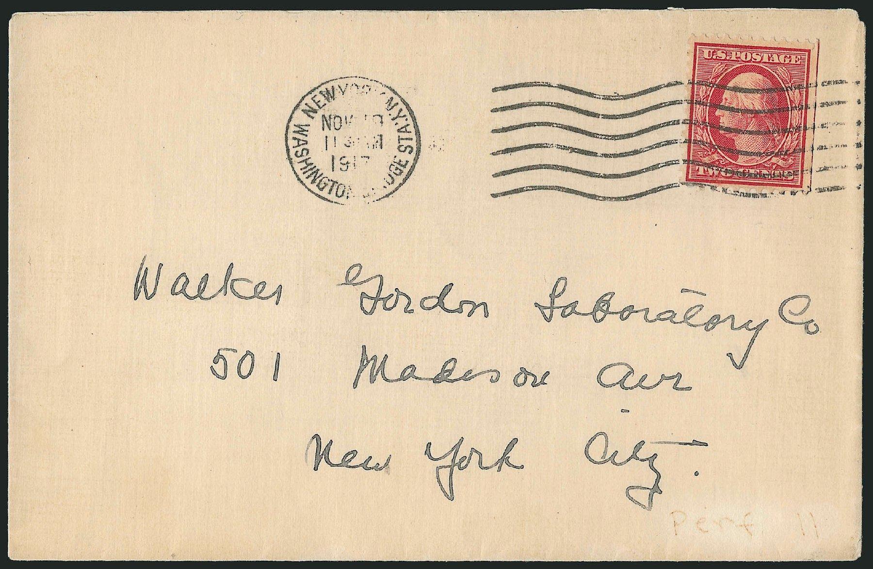 US Stamp Prices Scott Catalog 519: 1917 1c Washington Perf 11. Robert Siegel Auction Galleries, Feb 2015, Sale 1093, Lot 483
