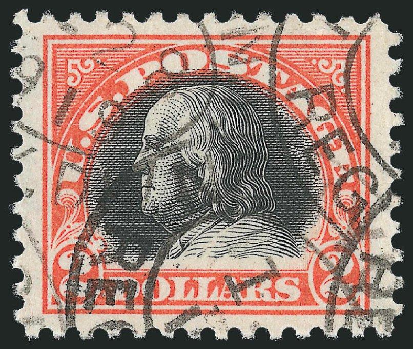 Costs of US Stamp Scott Cat. # 523 - US$2.00 1918 Franklin Perf 11. Robert Siegel Auction Galleries, Feb 2015, Sale 1093, Lot 487
