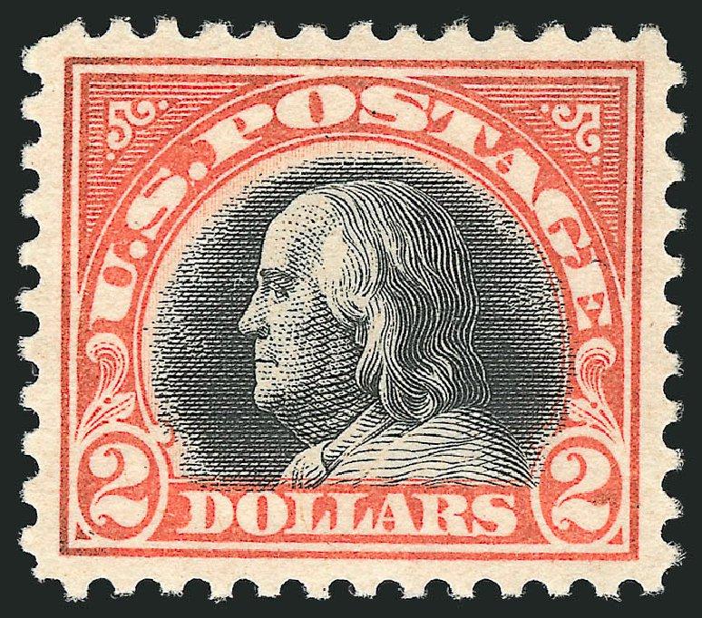 Values of US Stamps Scott Catalogue # 523 - US$2.00 1918 Franklin Perf 11. Robert Siegel Auction Galleries, Apr 2015, Sale 1096, Lot 757