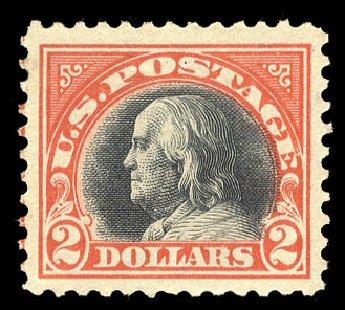US Stamp Price Scott Catalog 523: US$2.00 1918 Franklin Perf 11. Cherrystone Auctions, Mar 2015, Sale 201503, Lot 58