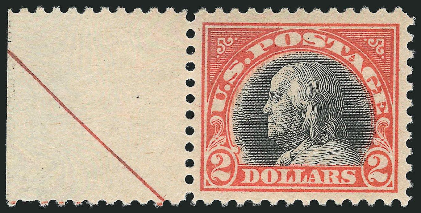US Stamp Prices Scott #523: US$2.00 1918 Franklin Perf 11. Robert Siegel Auction Galleries, Feb 2015, Sale 1092, Lot 1358