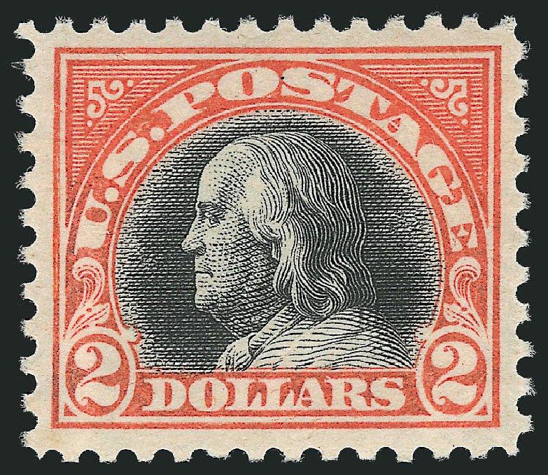 US Stamps Prices Scott Catalog #523: 1918 US$2.00 Franklin Perf 11. Robert Siegel Auction Galleries, Feb 2015, Sale 1092, Lot 1359