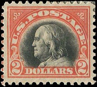 Costs of US Stamp Scott #523: US$2.00 1918 Franklin Perf 11. Regency-Superior, Jan 2015, Sale 109, Lot 1300