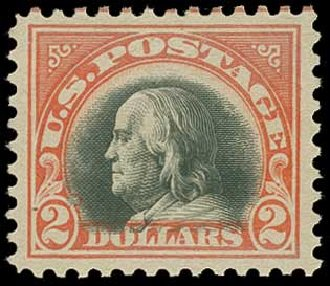 Price of US Stamps Scott 523: 1918 US$2.00 Franklin Perf 11. H.R. Harmer, Jun 2015, Sale 3007, Lot 3351