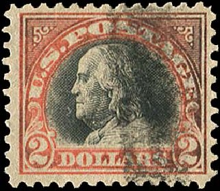Prices of US Stamps Scott Catalogue # 523 - 1918 US$2.00 Franklin Perf 11. Regency-Superior, Jan 2015, Sale 109, Lot 1301