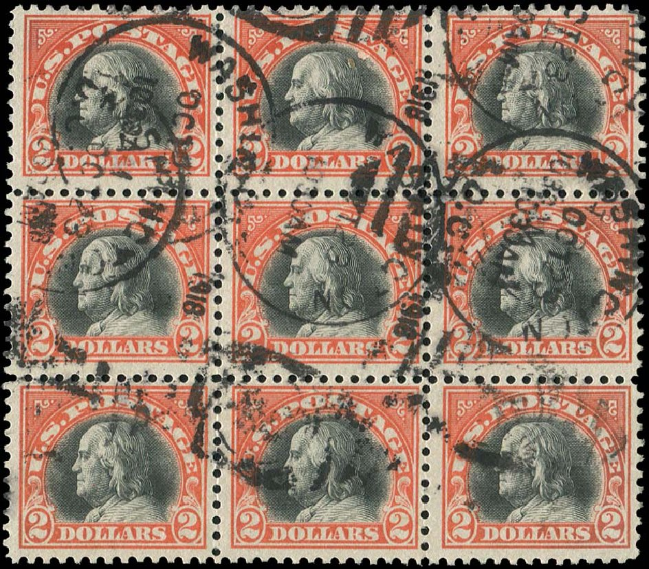 Values of US Stamps Scott Catalogue # 523: US$2.00 1918 Franklin Perf 11. Regency-Superior, Aug 2015, Sale 112, Lot 913