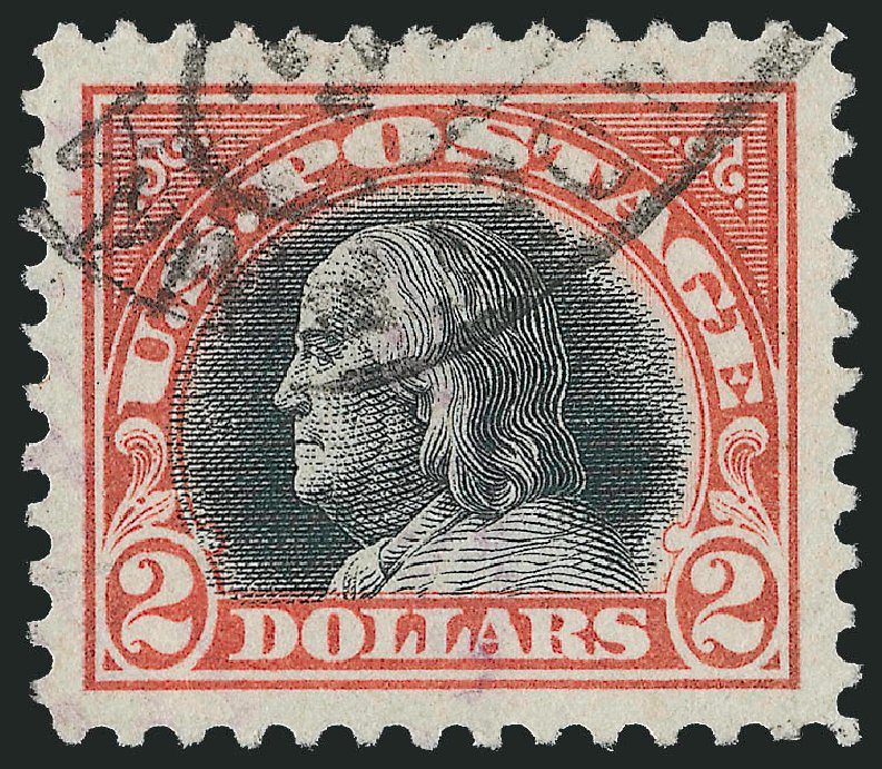 Costs of US Stamps Scott Catalogue #523: US$2.00 1918 Franklin Perf 11. Robert Siegel Auction Galleries, Feb 2015, Sale 1093, Lot 486