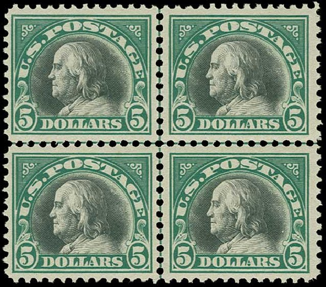 US Stamps Price Scott Catalogue # 524 - US$5.00 1918 Franklin Perf 11. H.R. Harmer, Jun 2015, Sale 3007, Lot 3352