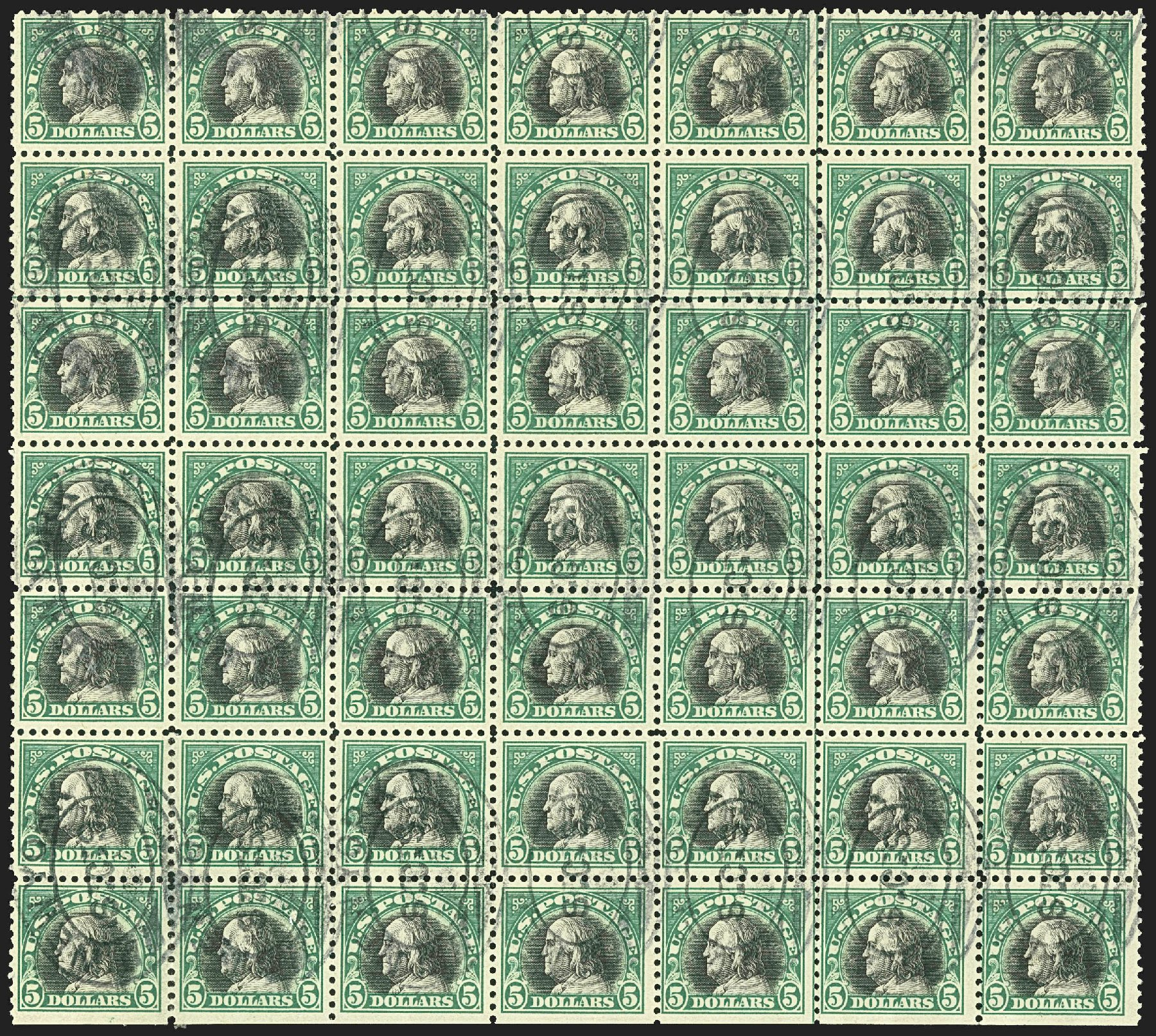 Value of US Stamps Scott Catalogue #524: US$5.00 1918 Franklin Perf 11. Robert Siegel Auction Galleries, Jul 2015, Sale 1107, Lot 506