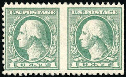 US Stamps Value Scott Cat. # 525: 1918 1c Washington Offset Perf 11. Schuyler J. Rumsey Philatelic Auctions, Apr 2015, Sale 60, Lot 2717
