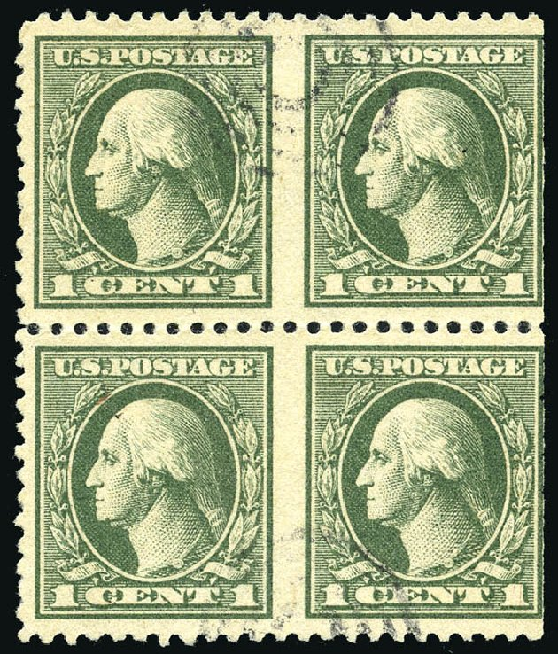 Costs of US Stamp Scott #525 - 1c 1918 Washington Offset Perf 11. Matthew Bennett International, Feb 2015, Sale 351, Lot 218