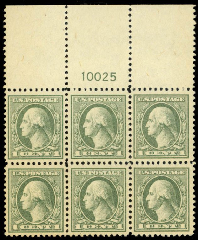 Cost of US Stamps Scott Catalogue # 525: 1918 1c Washington Offset Perf 11. Daniel Kelleher Auctions, Mar 2013, Sale 635, Lot 609