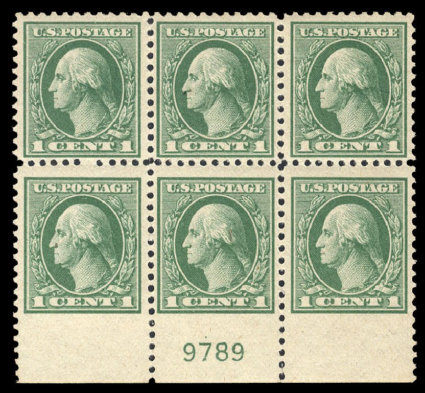 US Stamps Prices Scott 525: 1c 1918 Washington Offset Perf 11. Cherrystone Auctions, Jul 2015, Sale 201507, Lot 82