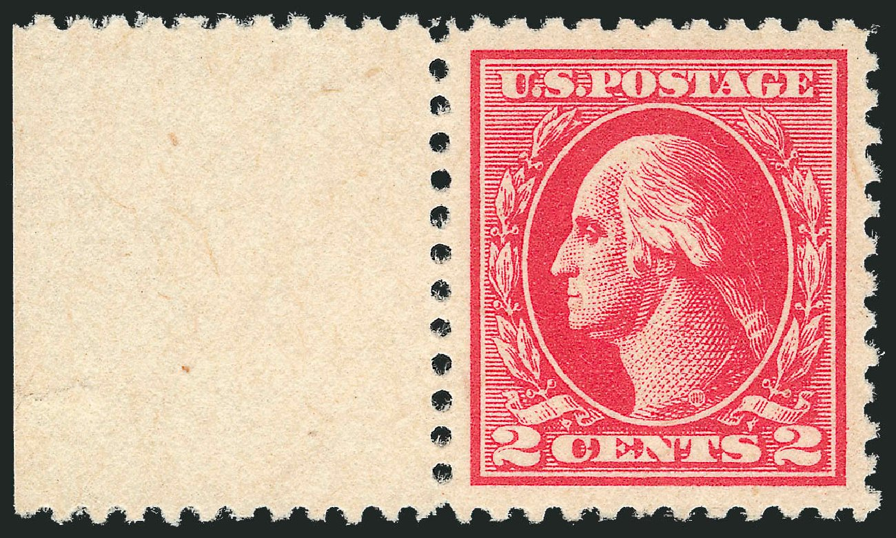 Values of US Stamp Scott Catalog 526 - 1920 2c Washington Offset Perf 11. Robert Siegel Auction Galleries, Dec 2013, Sale 1062, Lot 718