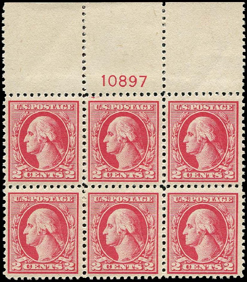 US Stamps Price Scott #526: 1920 2c Washington Offset Perf 11. Regency-Superior, Nov 2014, Sale 108, Lot 1340