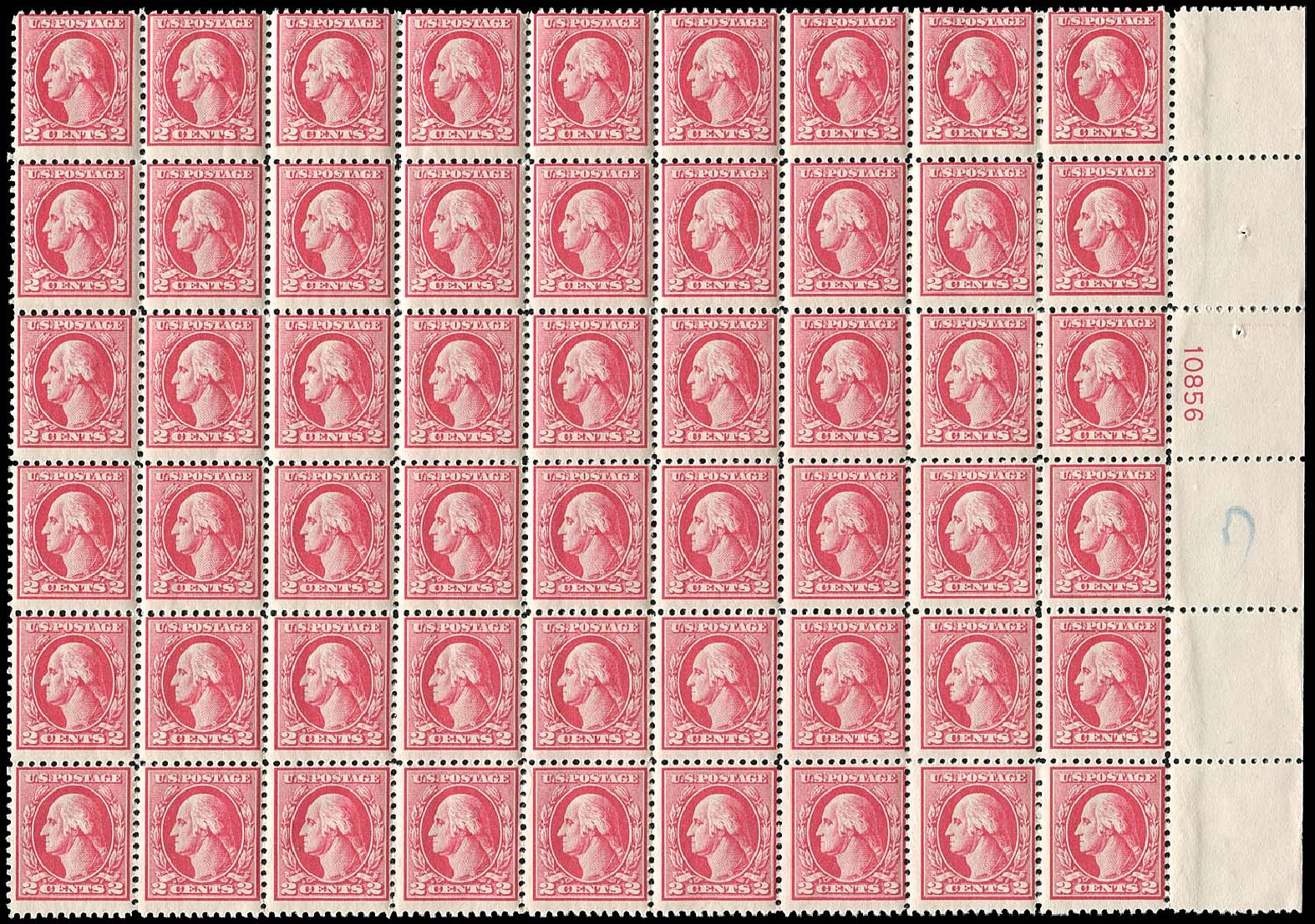 US Stamp Value Scott Catalogue #526 - 1920 2c Washington Offset Perf 11. Regency-Superior, Jan 2015, Sale 109, Lot 1661
