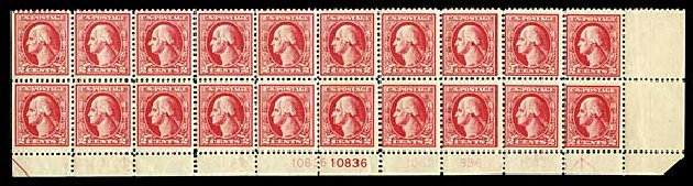Value of US Stamp Scott Catalog #526 - 2c 1920 Washington Offset Perf 11. Harmer-Schau Auction Galleries, Aug 2014, Sale 102, Lot 2065