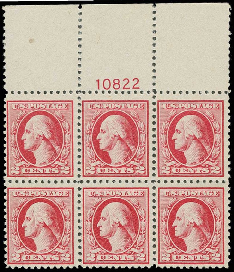 US Stamp Price Scott Cat. #526 - 2c 1920 Washington Offset Perf 11. H.R. Harmer, Jun 2013, Sale 3003, Lot 1373