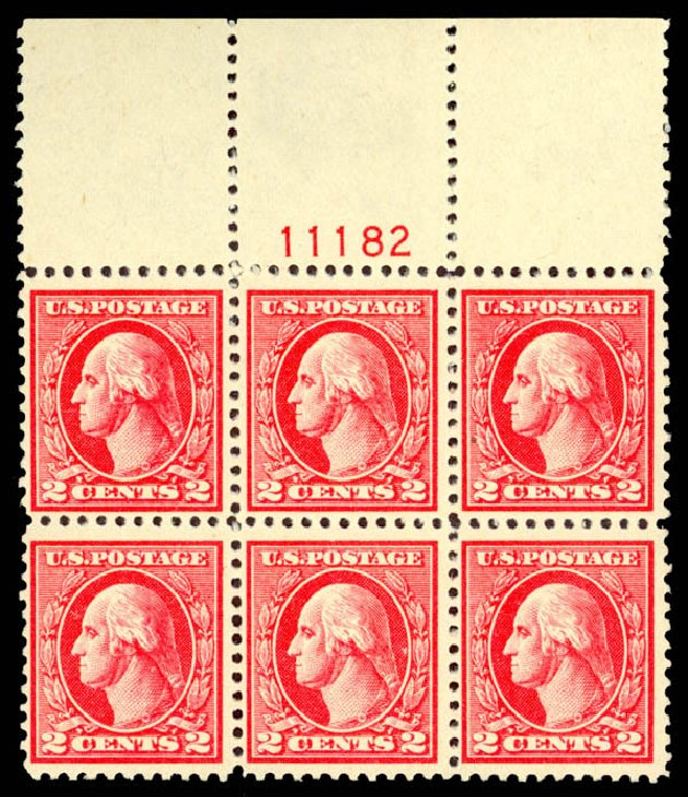 Value of US Stamps Scott Catalogue # 527: 1920 2c Washington Offset Perf 11. Daniel Kelleher Auctions, Dec 2013, Sale 640, Lot 447