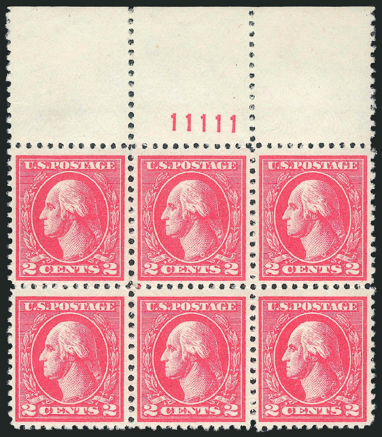 Value of US Stamp Scott Cat. #527: 2c 1920 Washington Offset Perf 11. Robert Siegel Auction Galleries, Nov 2013, Sale 1061, Lot 3988