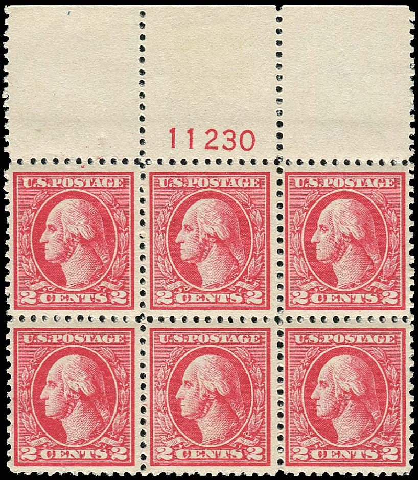 US Stamp Value Scott Catalog # 527: 2c 1920 Washington Offset Perf 11. Regency-Superior, Nov 2014, Sale 108, Lot 1341