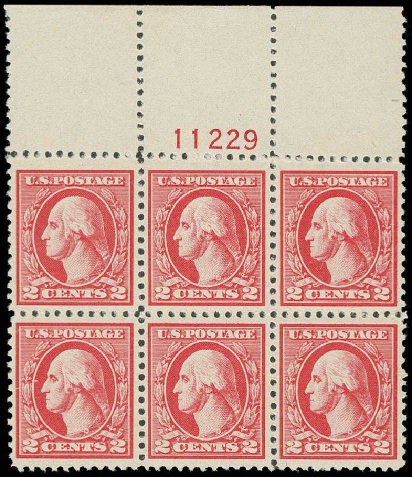 US Stamps Value Scott Catalogue 527 - 2c 1920 Washington Offset Perf 11. H.R. Harmer, Jun 2013, Sale 3003, Lot 1374