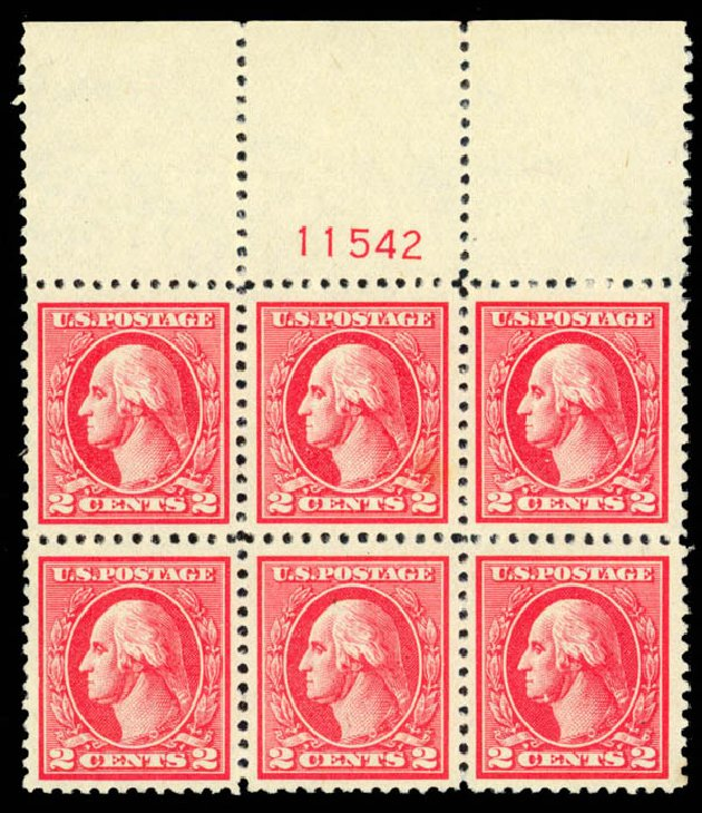 US Stamps Price Scott Cat. #527: 2c 1920 Washington Offset Perf 11. Daniel Kelleher Auctions, Apr 2013, Sale 636, Lot 404