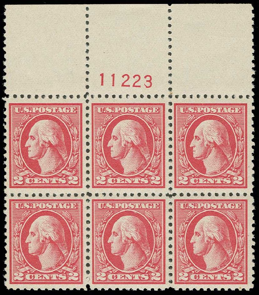 Prices of US Stamps Scott 527 - 2c 1920 Washington Offset Perf 11. H.R. Harmer, Jun 2013, Sale 3003, Lot 1375