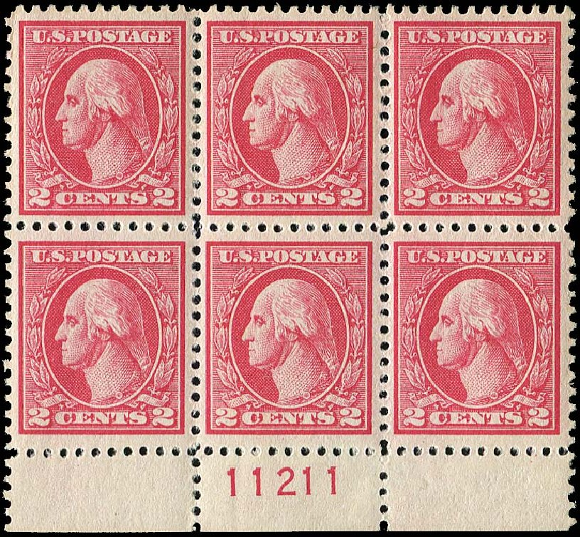 US Stamp Value Scott Catalogue 527: 1920 2c Washington Offset Perf 11. Regency-Superior, Nov 2014, Sale 108, Lot 1342