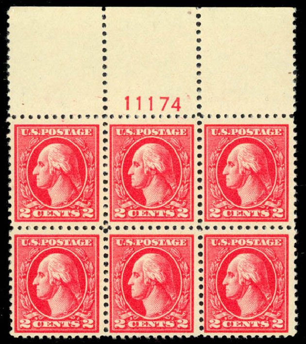 US Stamp Prices Scott Catalog # 527 - 1920 2c Washington Offset Perf 11. Daniel Kelleher Auctions, Apr 2013, Sale 636, Lot 406