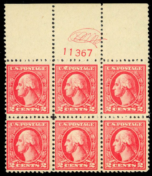 US Stamp Price Scott Cat. # 528: 1920 2c Washington Offset Perf 11. Daniel Kelleher Auctions, Mar 2013, Sale 635, Lot 627