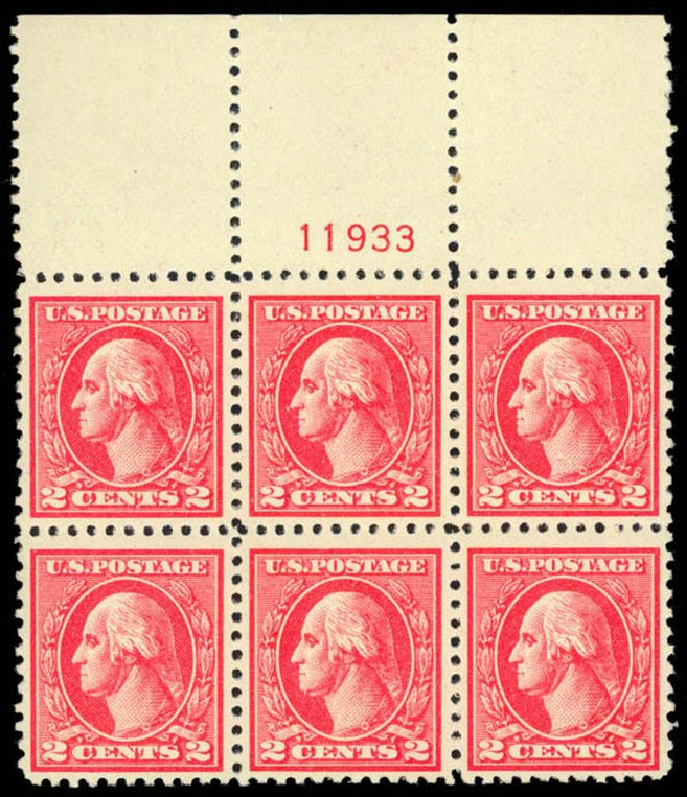 Prices of US Stamps Scott Catalogue #528: 2c 1920 Washington Offset Perf 11. Daniel Kelleher Auctions, Apr 2013, Sale 636, Lot 407