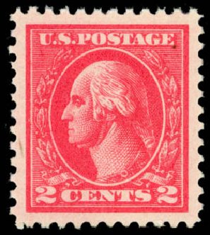 US Stamps Values Scott Cat. #528 - 2c 1920 Washington Offset Perf 11. Daniel Kelleher Auctions, Sep 2014, Sale 655, Lot 567