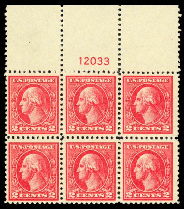 US Stamps Prices Scott Cat. # 528: 1920 2c Washington Offset Perf 11. Daniel Kelleher Auctions, Apr 2013, Sale 636, Lot 408