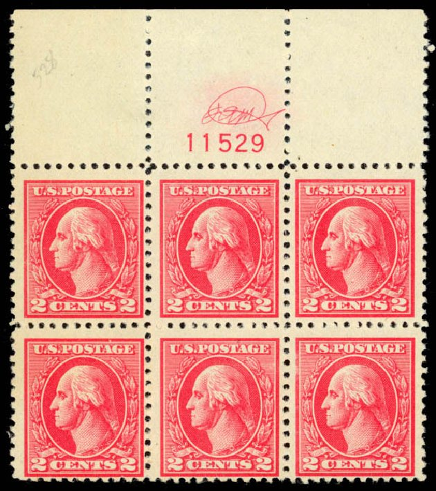 Cost of US Stamp Scott Catalog #528: 2c 1920 Washington Offset Perf 11. Daniel Kelleher Auctions, Oct 2014, Sale 660, Lot 2418