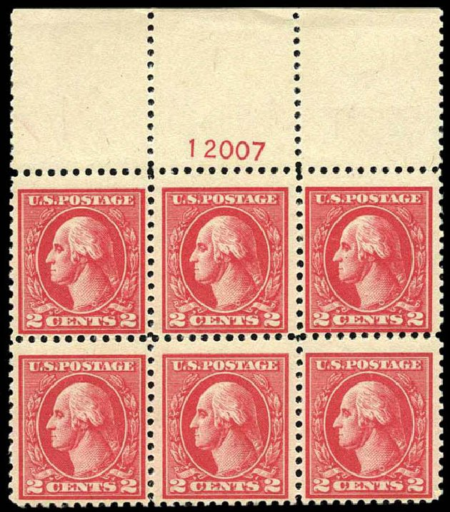 Prices of US Stamp Scott Cat. # 528 - 1920 2c Washington Offset Perf 11. Harmer-Schau Auction Galleries, Oct 2013, Sale 99, Lot 199