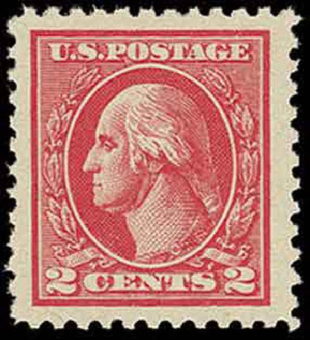 US Stamp Values Scott Catalogue # 528: 1920 2c Washington Offset Perf 11. H.R. Harmer, Nov 2013, Sale 3004, Lot 1300
