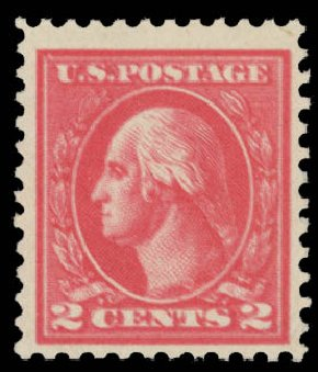 US Stamp Value Scott Catalog # 528: 1920 2c Washington Offset Perf 11. Daniel Kelleher Auctions, May 2015, Sale 669, Lot 3121
