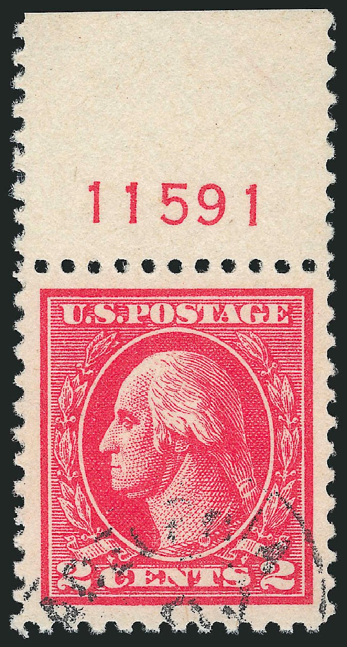 US Stamp Value Scott Catalog 528: 1920 2c Washington Offset Perf 11. Robert Siegel Auction Galleries, Mar 2014, Sale 1067, Lot 1601