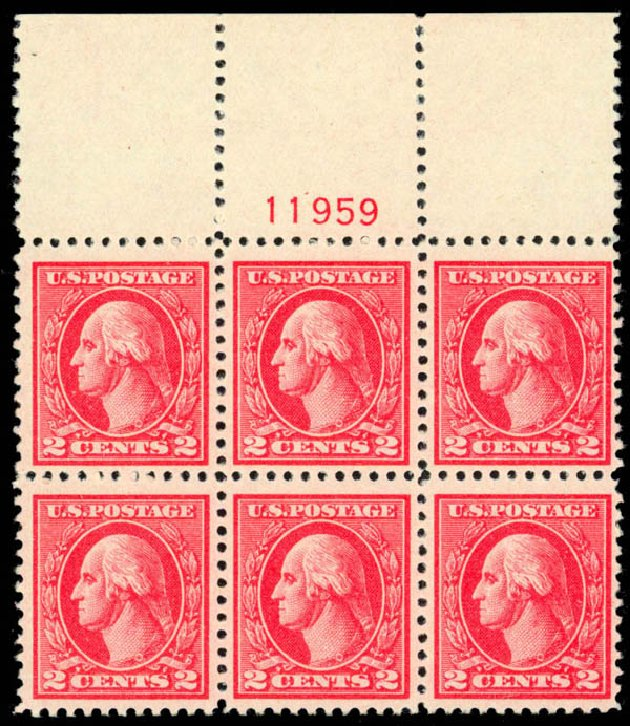 US Stamp Value Scott Cat. 528: 1920 2c Washington Offset Perf 11. Daniel Kelleher Auctions, Mar 2013, Sale 635, Lot 625