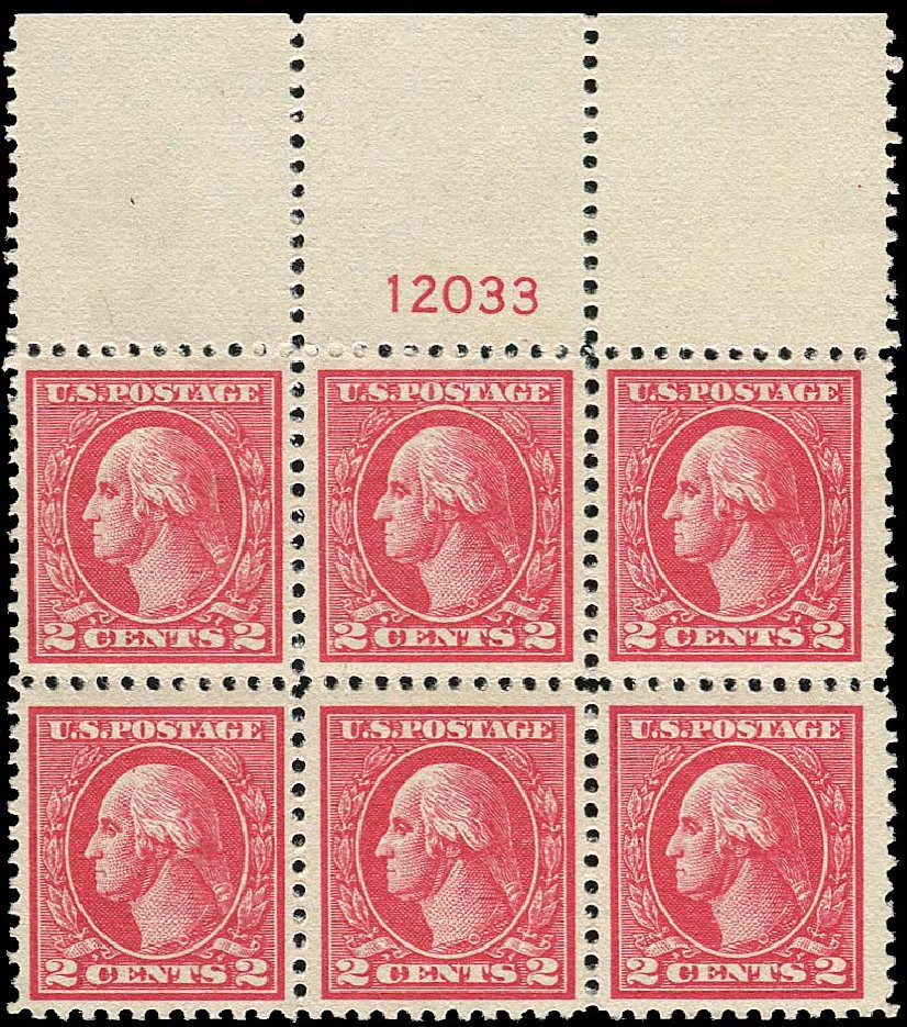 US Stamp Price Scott Catalog #528: 1920 2c Washington Offset Perf 11. Regency-Superior, Nov 2014, Sale 108, Lot 1343