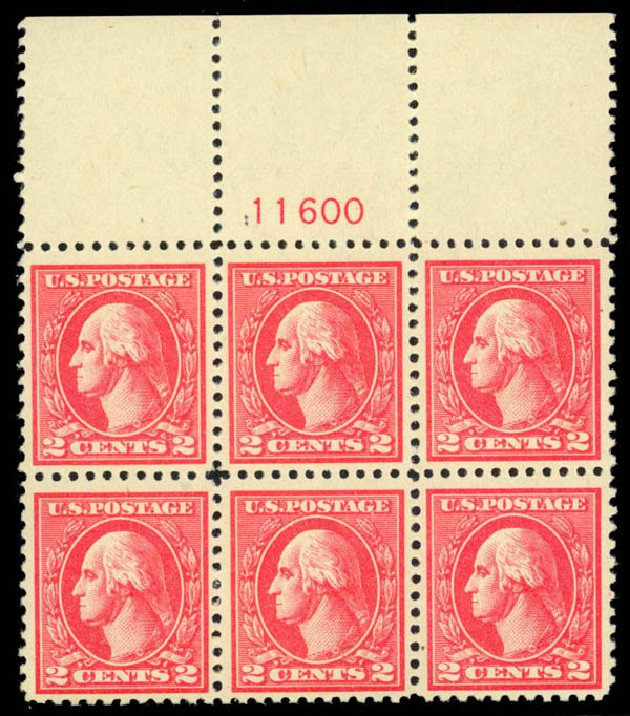 Values of US Stamp Scott #528A - 2c 1920 Washington Offset Perf 11. Daniel Kelleher Auctions, Apr 2013, Sale 636, Lot 409