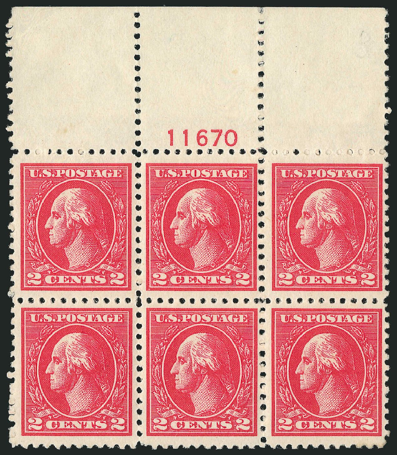 Value of US Stamps Scott Catalog 528A: 2c 1920 Washington Offset Perf 11. Robert Siegel Auction Galleries, Sep 2014, Sale 1078, Lot 579