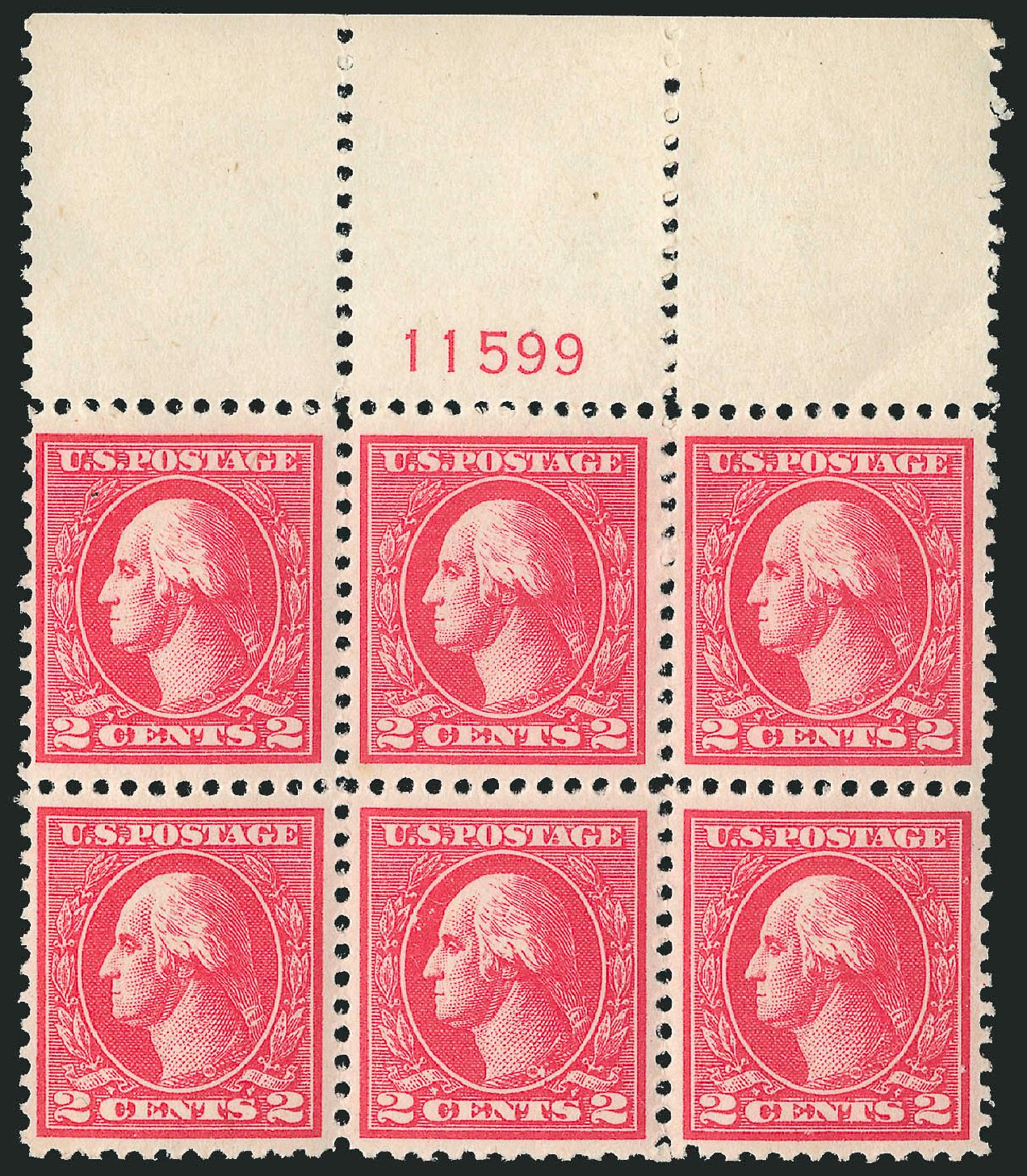 US Stamps Value Scott Catalogue 528A - 2c 1920 Washington Offset Perf 11. Robert Siegel Auction Galleries, Feb 2015, Sale 1093, Lot 491