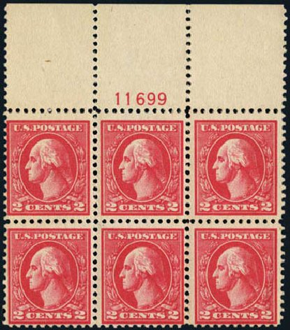 US Stamps Price Scott Cat. # 528A - 1920 2c Washington Offset Perf 11. Harmer-Schau Auction Galleries, May 2013, Sale 97, Lot 395