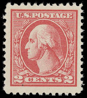 US Stamp Values Scott Catalogue 528A: 1920 2c Washington Offset Perf 11. Daniel Kelleher Auctions, Aug 2015, Sale 672, Lot 2785