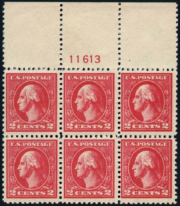Values of US Stamp Scott Catalogue #528A: 1920 2c Washington Offset Perf 11. Harmer-Schau Auction Galleries, Jan 2014, Sale 100, Lot 602