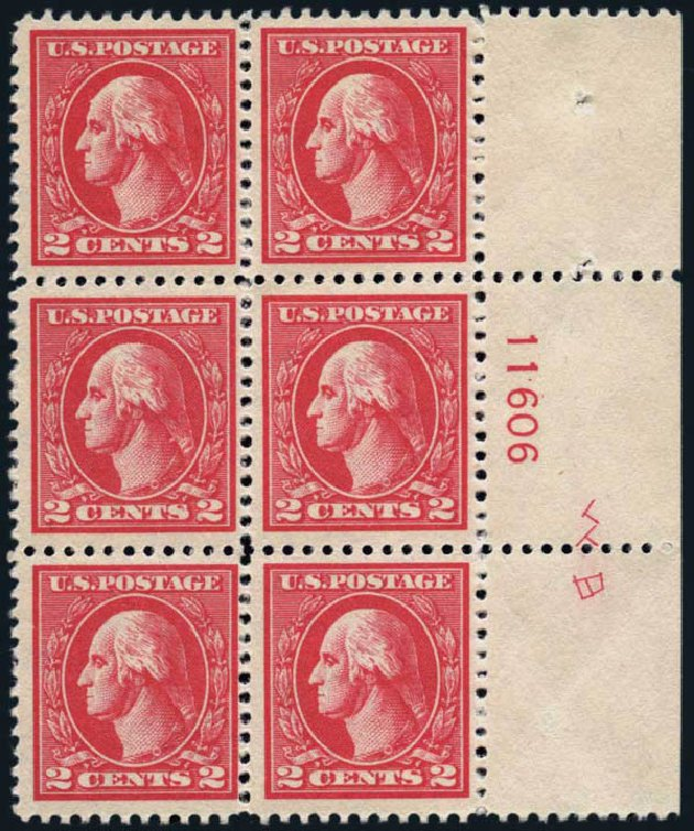 US Stamp Value Scott Catalogue #528A - 2c 1920 Washington Offset Perf 11. Harmer-Schau Auction Galleries, Jan 2014, Sale 100, Lot 603