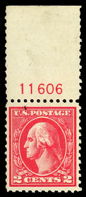 Cost of US Stamps Scott Catalogue 528A: 1920 2c Washington Offset Perf 11. Daniel Kelleher Auctions, Dec 2012, Sale 633, Lot 913