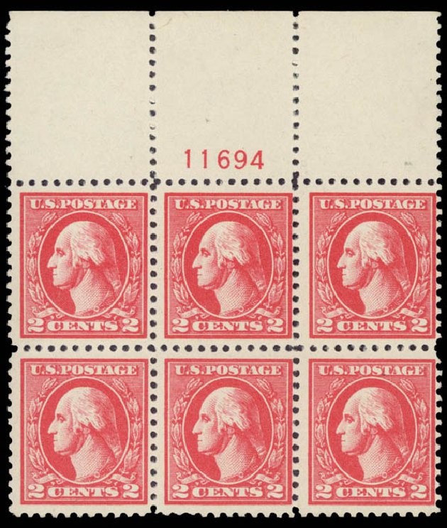 Value of US Stamps Scott #528A: 2c 1920 Washington Offset Perf 11. Daniel Kelleher Auctions, May 2015, Sale 669, Lot 3123
